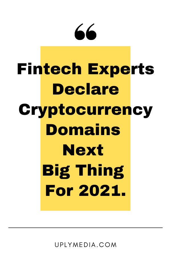 Fintech-Experts-Declare-Cryptocurrency-Domains-Next-Big-Thing-For-2021-Uply-Media-Blockchain